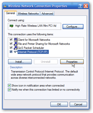 ip configuration settings